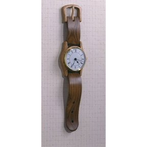 Woodworking Project Paper Plan to Build Wall-hung Wristwatch