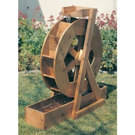 View a Larger Image of Woodworking Project Paper Plan to Build Water Wheel, Plan No. 891
