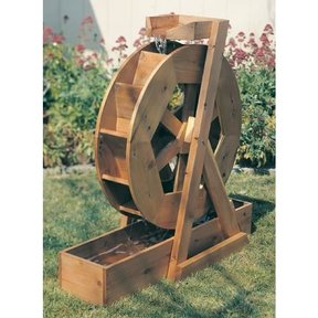 Woodworking Project Paper Plan to Build Water Wheel, Plan No. 891