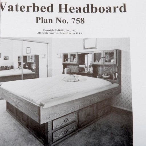 View a Larger Image of Woodworking Project Paper Plan to Build Waterbed Headboard, Plan No. 758