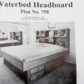 Woodworking Project Paper Plan to Build Waterbed Headboard, Plan No. 758
