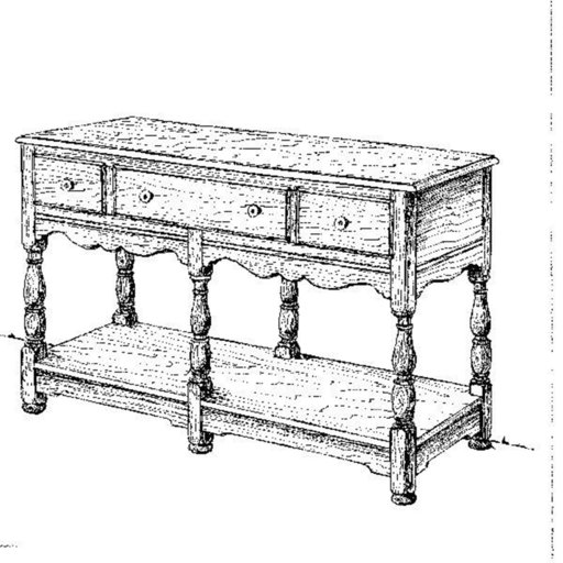 View a Larger Image of Woodworking Project Paper Plan to Build Welsh Buffet