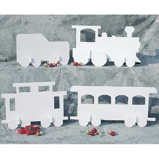 View a Larger Image of Woodworking Project Paper Plan to Build White Christmas Train, Plan No. 905