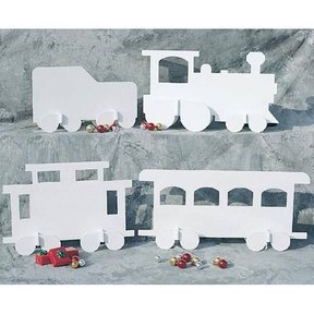Woodworking Project Paper Plan to Build White Christmas Train, Plan No. 905