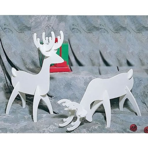 View a Larger Image of Woodworking Project Paper Plan to Build White Reindeer, Plan No. 872