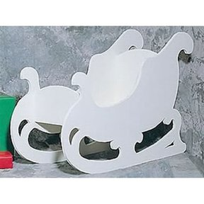 Woodworking Project Paper Plan to Build White Sleigh, Plan No. 873