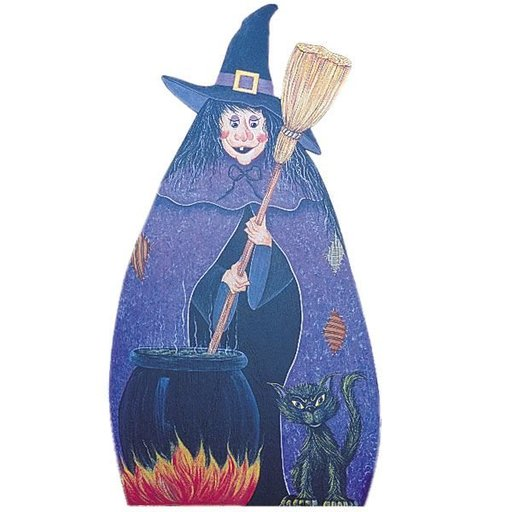 View a Larger Image of Woodworking Project Paper Plan to Build Witch & Cauldron, Plan No. 842