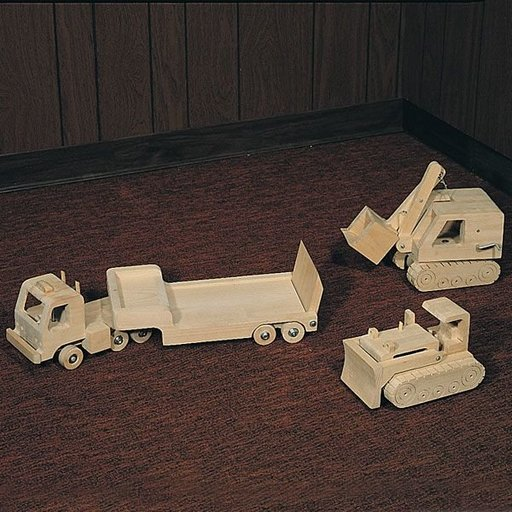 View a Larger Image of Woodworking Project Paper Plan to Build Wooden Trucks, Plan No. 737