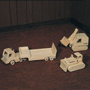 Woodworking Project Paper Plan to Build Wooden Trucks, Plan No. 737