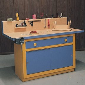 Woodworking Project Paper Plan to Build Workbench & Cabinet, Plan No. 535