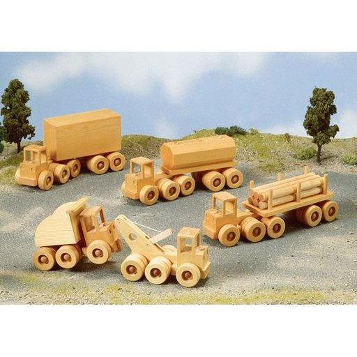 View a Larger Image of Woodworking Project Paper Plan to Build Wrecker, Dump Truck, & Heavy Haulers