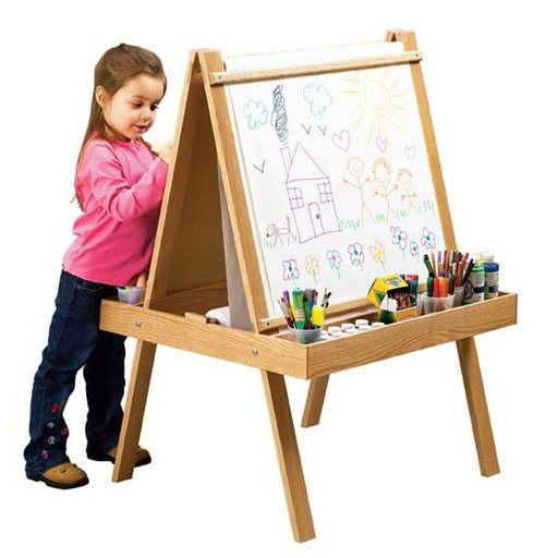View a Larger Image of Woodworking Project Paper Plan to Build Young Artist's Easel
