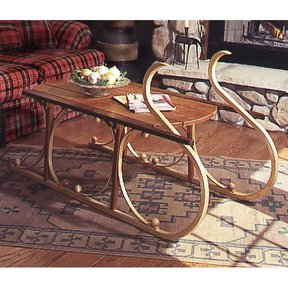 Woodworking Project Paper Plan to Build Yuletide Sleigh Coffee Table