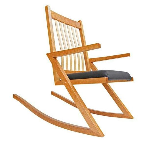 View a Larger Image of Woodworking Project Paper Plan to Build ZigZag Rocker