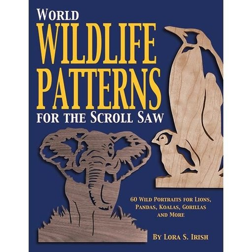 View a Larger Image of World Wildlife Patterns for The Scroll Saw: 60 Wild Portraits for Lions, Pandas, Koalas, Gorillas & More