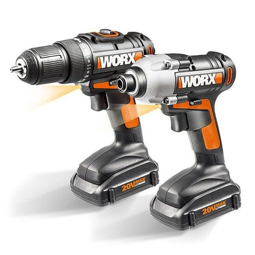View a Larger Image of 20V Cordless 2-Piece Combo Kit with Drill and Impact Driver