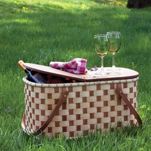 View a Larger Image of Woven-Wood Picnic Basket - Downloadable Plan