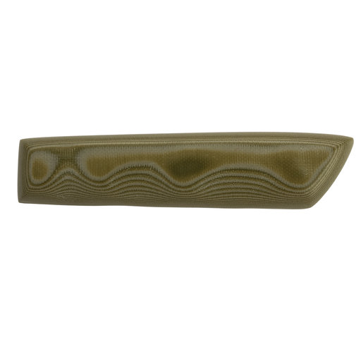 "View a Larger Image of Green & Tan G10 8mm x 1-1/2"" x 5"" Knife Scale 2pc"