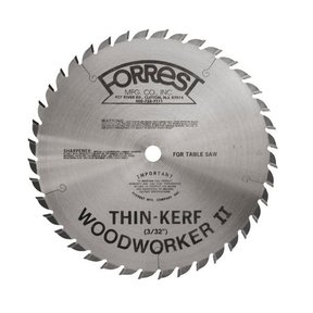 "WW10407100 Woodworker II Saw Blade,  10""x 40T, .100"" Kerf x 5/8"" Bore, ATB"