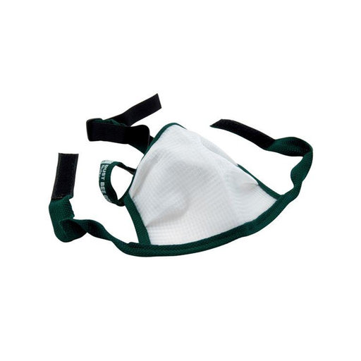 View a Larger Image of X-Large Dust Bee Gone Mask - Green Edging