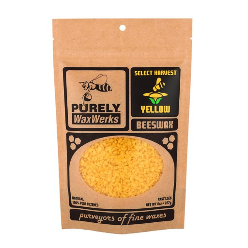View a Larger Image of Yellow Beeswax Pastilles 8oz