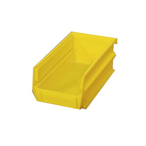 Yellow Stacking, Hanging, Interlocking Polypropylene Bins, 24 CT