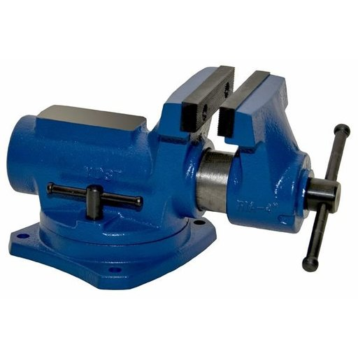 "View a Larger Image of 4"" Compact Bench Vise with 360 Degree Swivel Base Vise, Model RIA-4"