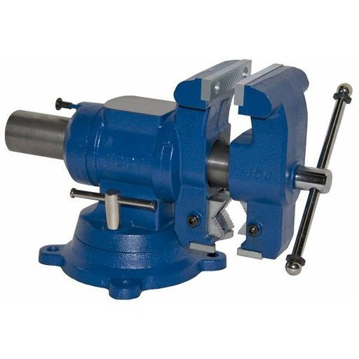 "View a Larger Image of 5-1/8"" Multi-jaw Rotating Combination Pipe and Bench Vise, Model 750-DI"