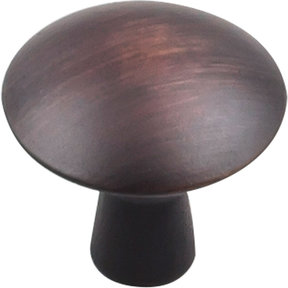 "Zachary Knob, 1-1/16"" Dia Brushed Oil Rubbed Bronze"