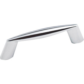 "Zachary Pull, 3"" C/C, Polished Chrome"