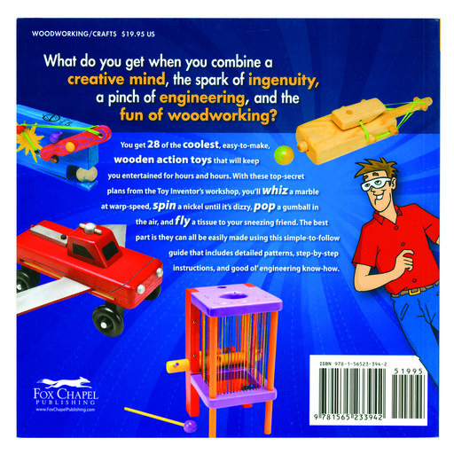 View a Larger Image of Zany Wooden Toys that Whiz, Spin, Pop and Fly
