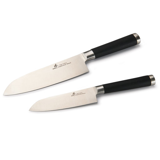 """View a Larger Image of ZHEN Japanese High Carbon Forged Stainless Steel 7"""" and 5"""" Santoku Knife Set - Finished"""